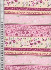 Bavlněná látka na patchwork 9019 - 10 cm