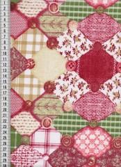 Bavlněná látka na patchwork 9020 - 10 cm
