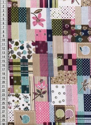 Bavlněná látka na patchwork 9022 - 10 cm