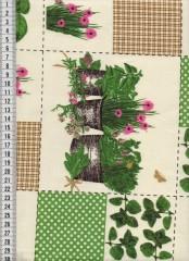 Bavlněná látka na patchwork 9026 - 10 cm