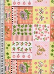Bavlněná látka na patchwork 9028 - 10 cm