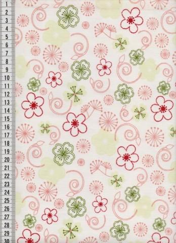 Bavlněná látka na patchwork 9029 - 10 cm