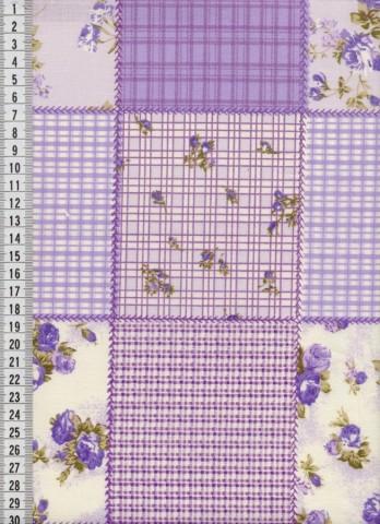 Bavlněná látka na patchwork 9047 - 10 cm