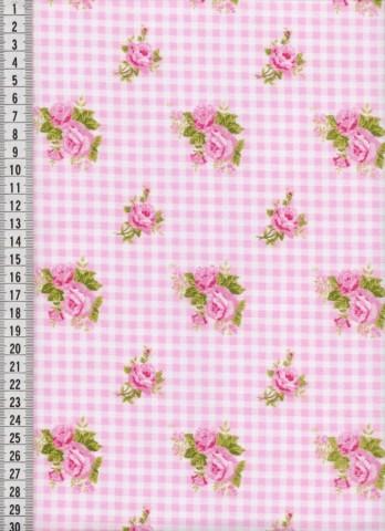 Bavlněná saténová látka na patchwork 9072 - 10 cm