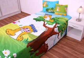 Přehoz na postel jednolůžko Amálka - hrací deka