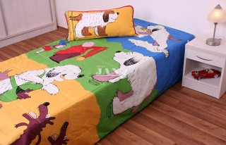 Přehoz na postel jednolůžko Maxipes Fík - hrací deka