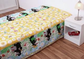 Přehoz na postel jednolůžko Krtek - hrací deka