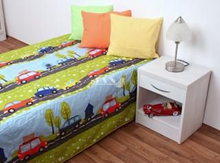 Přehoz na postel jednolůžko - Auta na cestě - hrací deka