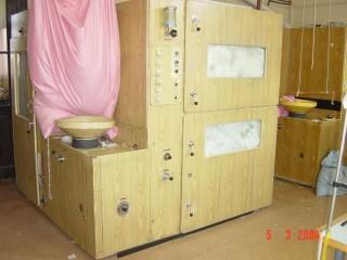 3. fáze čištění peří - propařování, desinfekce a sušení
