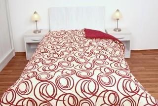Prošívaná přikrývka (deka) umělé duté vlákno 135x200cm vzor