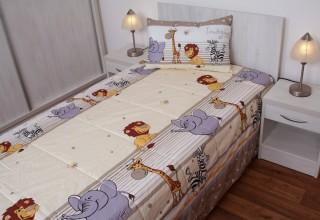 Přehoz na postel jednolůžko - Safari béžové