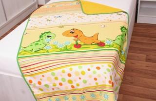 Dětská dečka fleece + bavlna Zelený dino