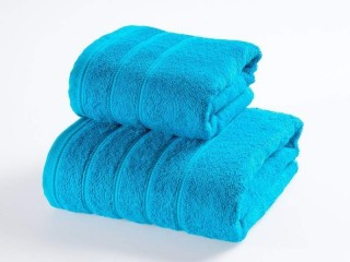 "Osuška froté - ""Solid"" - 70x130 cm - azurově modrá"