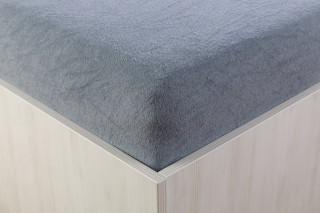 Prostěradlo froté tmavě šedé 90, 140, 160, 180 x 200 cm
