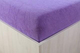 Prostěradlo froté fialové 90, 140, 160, 180 x 200 cm