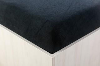Prostěradlo froté černé 90, 140, 160, 180 x 200 cm