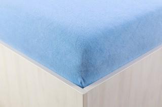 Prostěradlo froté středně modré 90, 140, 160, 180 x 200 cm