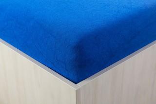 Prostěradlo froté královsky modré 90, 140, 160, 180 x 200 cm