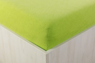Prostěradlo froté středně zelené 90, 140, 160, 180 x 200 cm