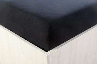 Prostěradlo jersey černé 90, 180x200 cm