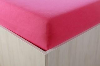 Prostěradlo jersey s lycrou tm. růžové 90,140,160,180x200 cm