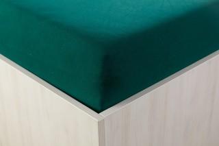 Prostěradlo jersey tmavě zelené 90, 140, 160, 180x200 cm