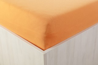 Prostěradlo jersey oranžové 90,140,160,180x200 cm