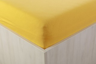 Prostěradlo jersey tmavě žluté 90, 140, 160, 180x200 cm