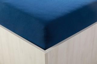 Prostěradlo jersey modročerné 90, 160, 180x200 cm