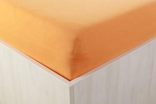 Dětské prostěradlo do postýlky jersey 60x120 cm oranžové A