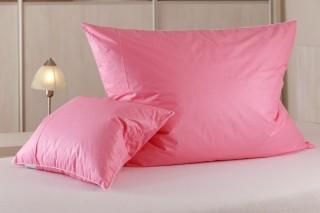 Péřový polštář - ručně drané husí peří - růžový