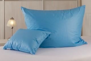 Polštář peří - ručně drané husí peří - modrý 70x90 cm