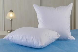 Polštářek - prachové peří od 30x30 cm do 50x50 cm - bílý