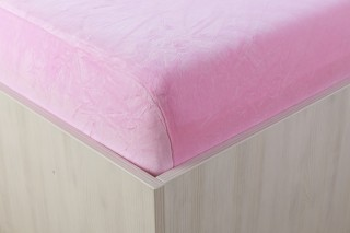 Sametové prostěradlo růžové 90, 140, 160, 180 x 200 cm