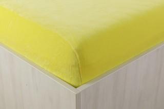 Sametové prostěradlo žluté 90, 140, 160, 180 x 200 cm