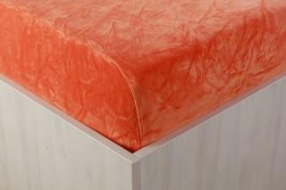 Sametové prostěradlo oranžové 90, 140, 160, 180 x 200 cm