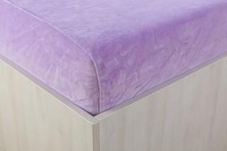 Sametové prostěradlo fialové 90, 140, 160, 180 x 200 cm