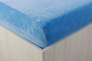 Sametové prostěradlo sv. modré 90, 140, 160, 180 x 200 cm
