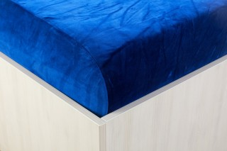 Sametové prostěradlo tm. modrá 90, 140, 160, 180 x 200 cm