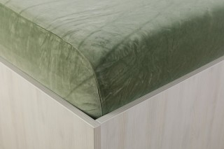 Sametové prostěradlo khaki 90, 140, 160, 180 x 200 cm