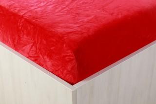 Sametové prostěradlo červené 90, 140, 160, 180 x 200 cm