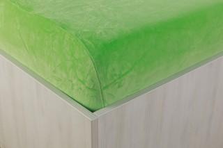 Sametové prostěradlo zelené 90, 140, 160, 180 x 200 cm