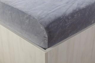 Sametové prostěradlo šedé 90, 140, 160, 180 x 200 cm