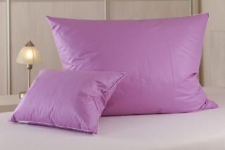 Polštář peří - poloprach - fialový