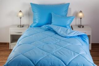 Přikrývka (deka) z umělé dutého vlákna jednovrstvá - 1200 g - modrá