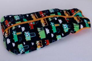 Dětský pytlík na spaní z fleecu 80 - 150 cm / autíčka - poslední 1 kus