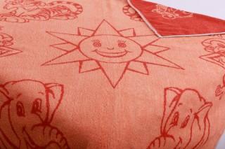 Dětská froté osuška 100x100 cm - sluníčko 2. jakost