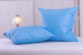 Polštářek od 30x30 cm do 50x50 cm husí ručně drané peří - modrý