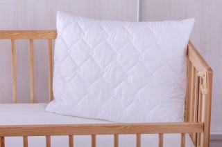 Dětský polštář do postýlky - umělé duté vlákno kuličky 60x45 cm bílý