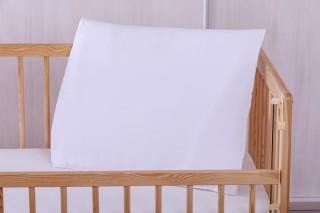 Dětský polštář do postýlky z ovčí vlny 60x45 cm - bílý